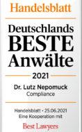 HB_Dtld_Beste_Anwaelte2021_Dr_Lutz_Nepomuck_Compliance