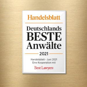 Handelsblatt Deutschlands BESTE Anwälte 2021: Erneute Auszeichnung für Dr.Gazeas und Dr.Nepomuck im Wirtschaftsstrafrecht und im Bereich Compliance