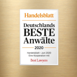 Best Lawyers/Handelsblatt Germanys BEST Lawyers 2020: Award for Dr.Gazeas in the field of Criminal Defense/White-Collar Crime and Dr.Nepomuck in the field of Compliance