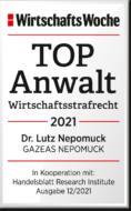 WiWo_TOPAnwalt_Wirtschaftsstrafrecht_2021_Dr_Lutz_Nepomuck