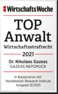 WiWo_TOPAnwalt_Wirtschaftsstrafrecht_2021_Dr_Nikolaos_Gazeas