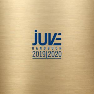 """Recommendation in """"JUVE-Handbuch Wirtschaftskanzleien 2019/2020"""""""